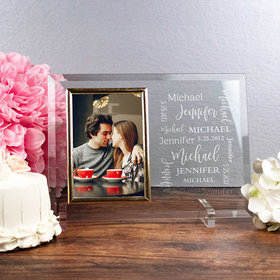 Personalized Picture Frame - Wedding Word Cloud