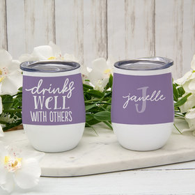 Personalized 12oz Wine Tumbler - Drinks Well with Others