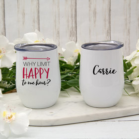 Personalized 12oz Wine Tumbler - Happy Hour