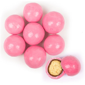 Premium Bright Pink Milk Chocolate Malted Milk Balls