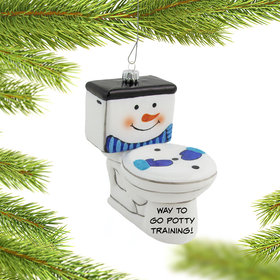 Personalized Frosty the Toilet
