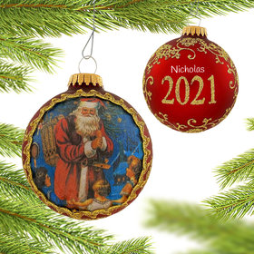 Personalized 2021 Dated Santa on Silk (Pere Noel)