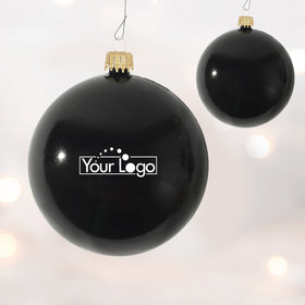 Add Your Logo One Color One Sided Print Shatterproof Christmas Ornament