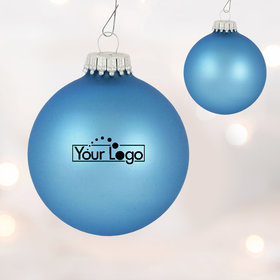 Add Your Logo One Color One Sided Print Glass Christmas Ornament