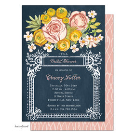 Bonnie Marcus Collection Personalized Lush Floral Invitation