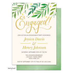 Bonnie Marcus Collection Personalized Lovely Leaves Engagement Party Invitation
