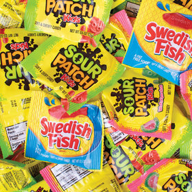 Halloween Sour Patch Kids and Swedish Fish - 100ct Bag