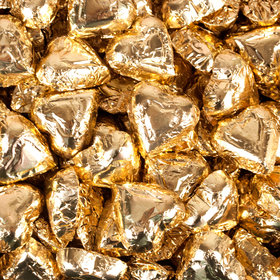 Madelaine Milk Chocolate Hearts Gold Foil