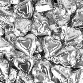Madelaine Milk Chocolate Hearts Silver Foil
