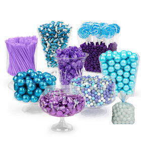 Mermaid Themed Blue & Purple Deluxe Candy Buffet