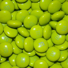Electric Green M&Ms Milk Chocolate Candies