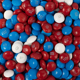 Patriotic M&M's Milk Chocolate - Red, White & Blue (38oz Bag)