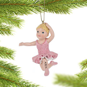Personalized Little Ballerina Bended Knee Pose