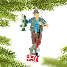 Personalized Great Catch Fishing Ornament