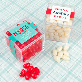 Personalized Nurse Appreciation JUST CANDY® favor cube with Jelly Belly Jelly Beans