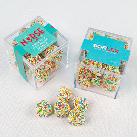 Personalized Nurse Appreciation JUST CANDY® favor cube with Rainbow Berries