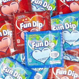 Fun Dip Valentine Candy and Card Kit