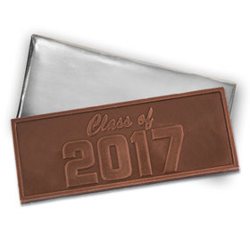 Class of 2017 Embossed Belgian Milk Chocolate Foil Wrapped Bar