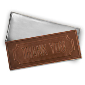 Embossed Thank You Belgian Milk Chocolate Bar (12 Pack)