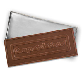 Embossed Congratulations Belgian Milk Chocolate Bar (12 Pack)
