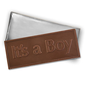 It'S A Boy Belgian Milk Chocolate Foil Wrapped Bar