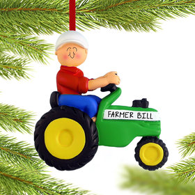 Personalized Green Tractor Male