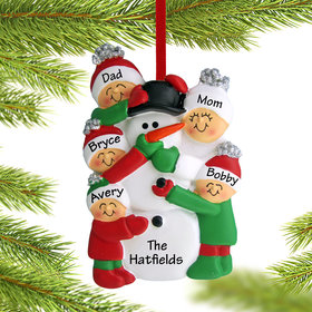 Personalized Building a Snowman Family of 5