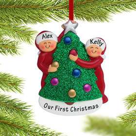 Personalized Couple Decorating the Tree