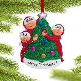 Personalized Family Decorating the Tree 3