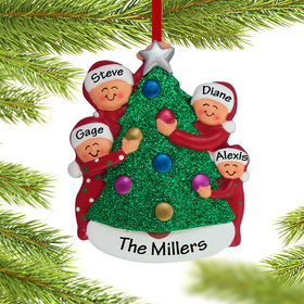 Personalized Family Decorating the Tree 4