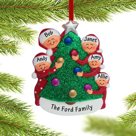 Personalized Family Decorating the Tree 5