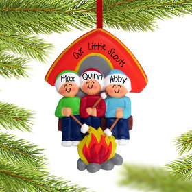 Personalized Camping Family of 3
