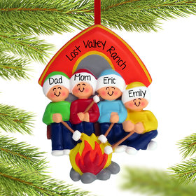 Personalized Camping Family of 4
