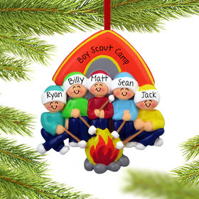 Personalized Camping Family of 5