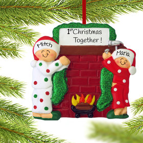 Personalized Hanging Stockings Couple