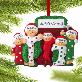 Personalized Hanging Stockings Family of 5