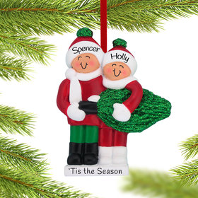 Personalized Buying a Christmas Tree Couple