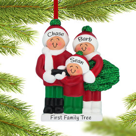 Personalized Buying a Christmas Tree Family of 3