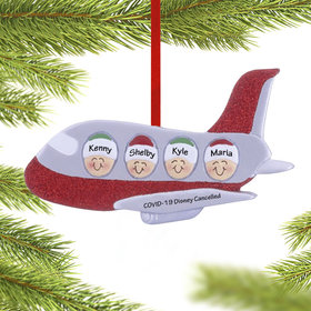 Personalized Airplane Family of 4