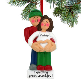 Personalized Pregnancy Couple with Heart