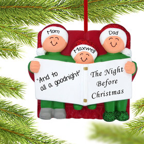 Personalized Night Before Christmas Family of 3