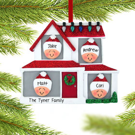 Personalized Family of 4 in House