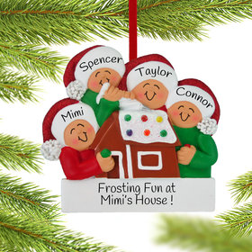 Personalized Making a Gingerbread House Family of 4