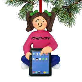 Personalized Girl with Tablet