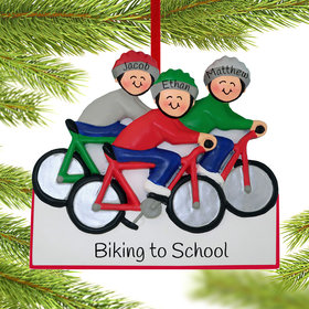Personalized Bike Riding Family of 3