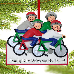 Personalized Bike Riding Family of 4