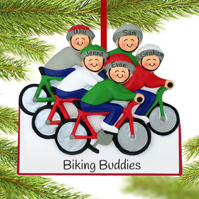 Personalized Bike Riding Family of 5