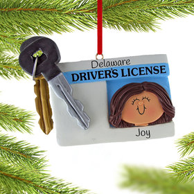 Personalized License with Key Girl