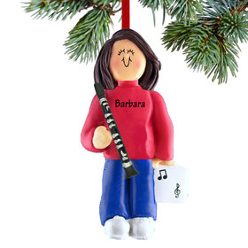Personalized Clarinet Player Female