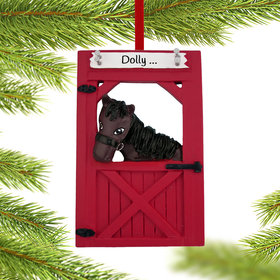 Personalized Horse in Barn